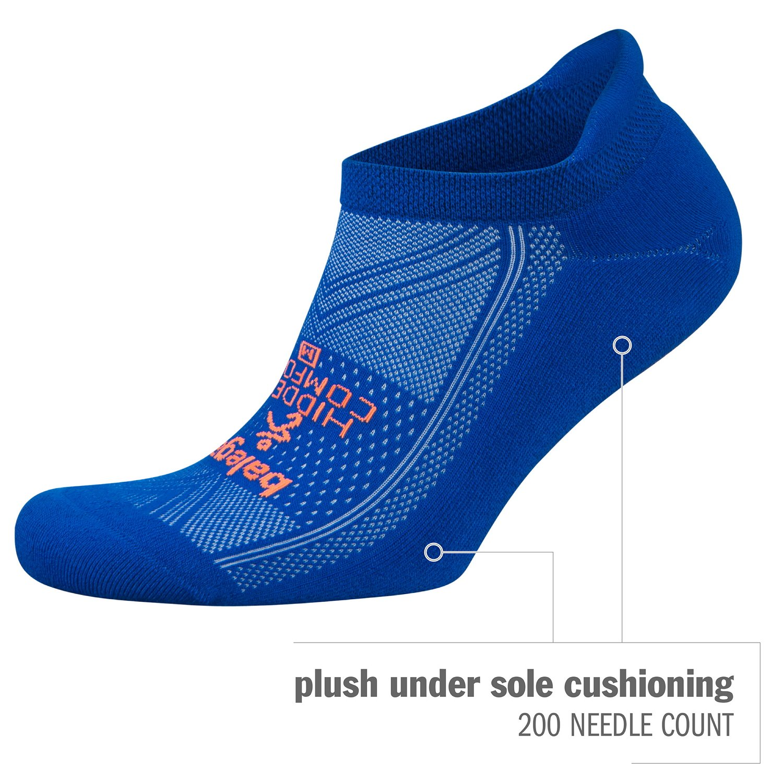 Balega Hidden Comfort No-Show Running Socks for Men and Women (1 Pair), Charcoal, Large by Balega (Image #4)
