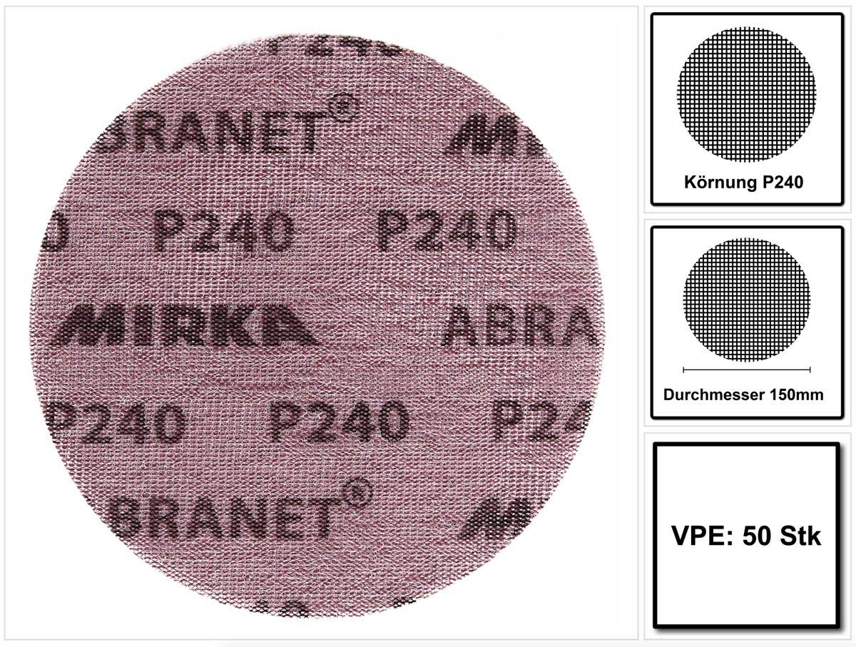 1 x Abranet d 150 mm P 360 Schleif Netz  Schleifscheibe