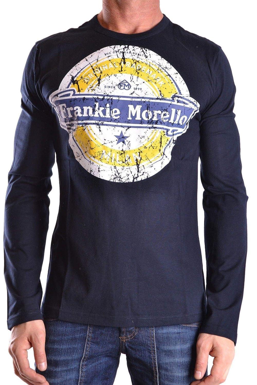 Frankie Morello Luxury mode Homme MCBI22249 Bleu T-Shirt   Saison Outlet