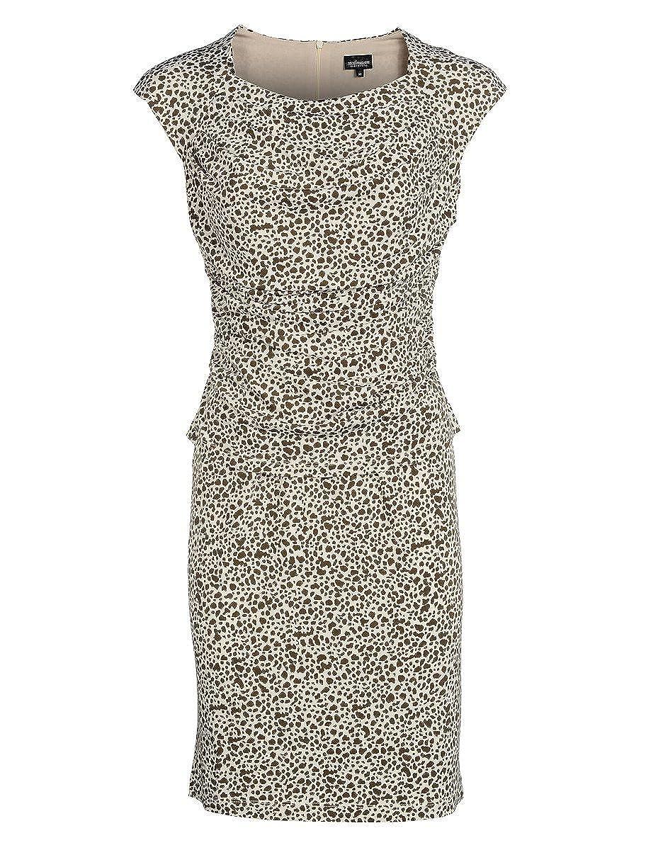 STEILMANN by Adler Mode Damen Jerseykleid mit Rosendruck und schwingender Saumweite - Sommerkleid, Coktailkleid, Businesskleid, Stoffkleid