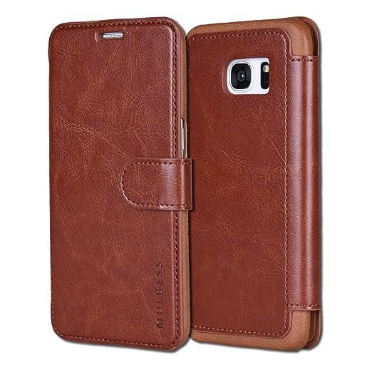 48 opinioni per Custodia Galaxy S7 Edge- Cover Galaxy S7 Edge- Mulbess Custodia In Pelle Con