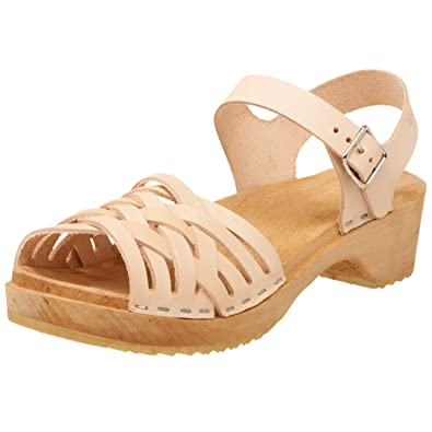 Womens Braided low Sandals Swedish Hasbeens QMJ25