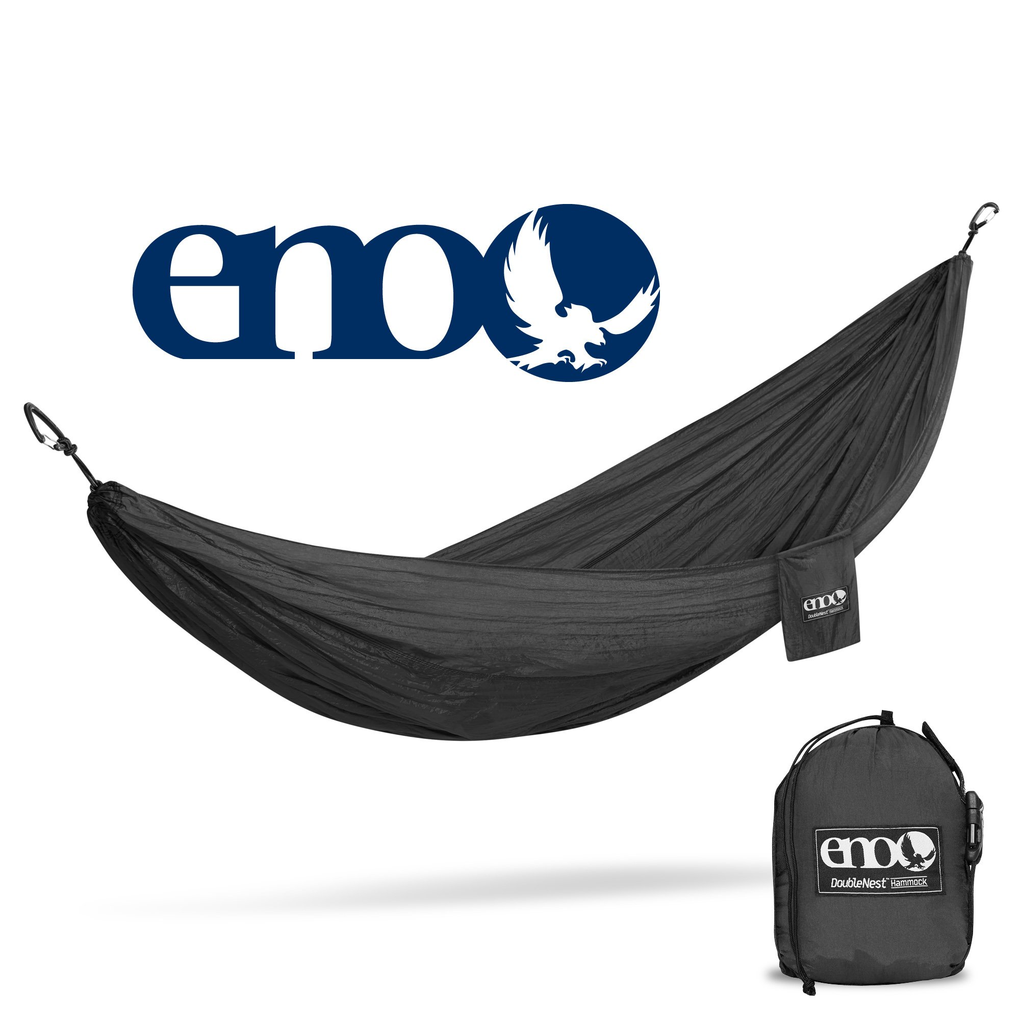 ENO - Eagles Nest Outfitters DoubleNest Hammock, Portable Hammock for Two, Black/Black