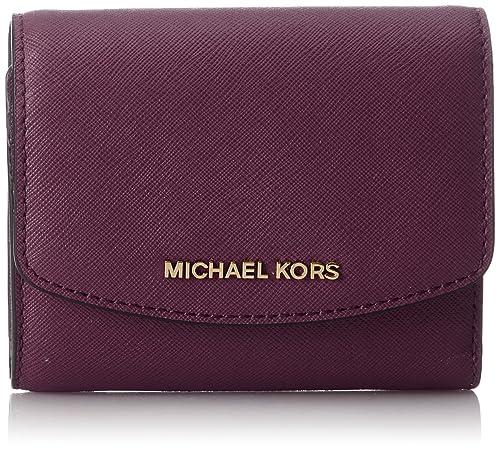 Michael Kors - Wallets, Carteras Mujer, Violett (Damson), 3x10x12 cm (