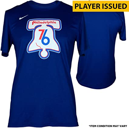 f92268752df Image Unavailable. Image not available for. Color  Justin Anderson  Philadelphia 76ers Player-Issued  1 Blue Shirt ...