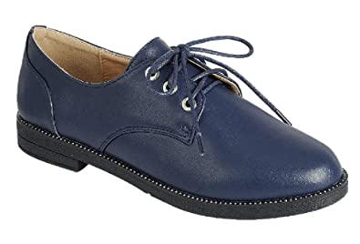 285147411330 Amazon.com  Forte Top Selling Classic Oxford Lace Up for Women Ladies Teen  Girls (Assorted Colors)  Shoes