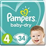 Pampers Baby-Dry tamaño 4, 1er Pack (1 x 34 unidades)