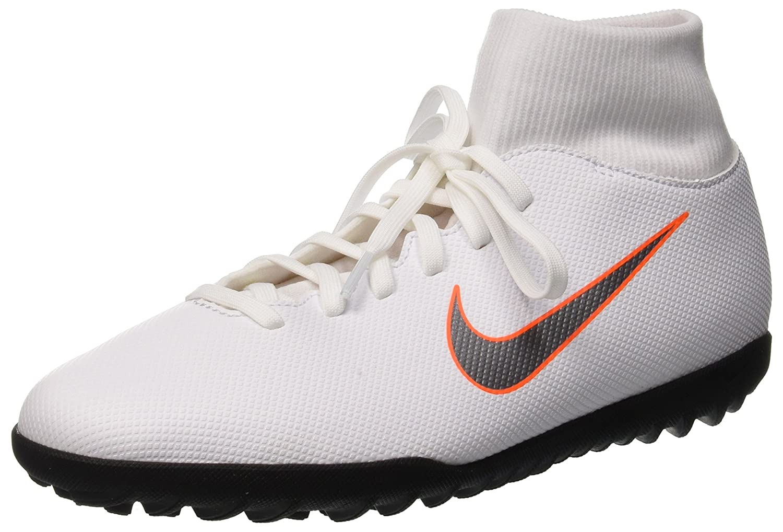 Nike Superflyx 6 Club TF, Zapatillas de Fútbol Unisex Adulto 44 EU|Negro (White/Mtlc Cool Grey/Total Orange 107)