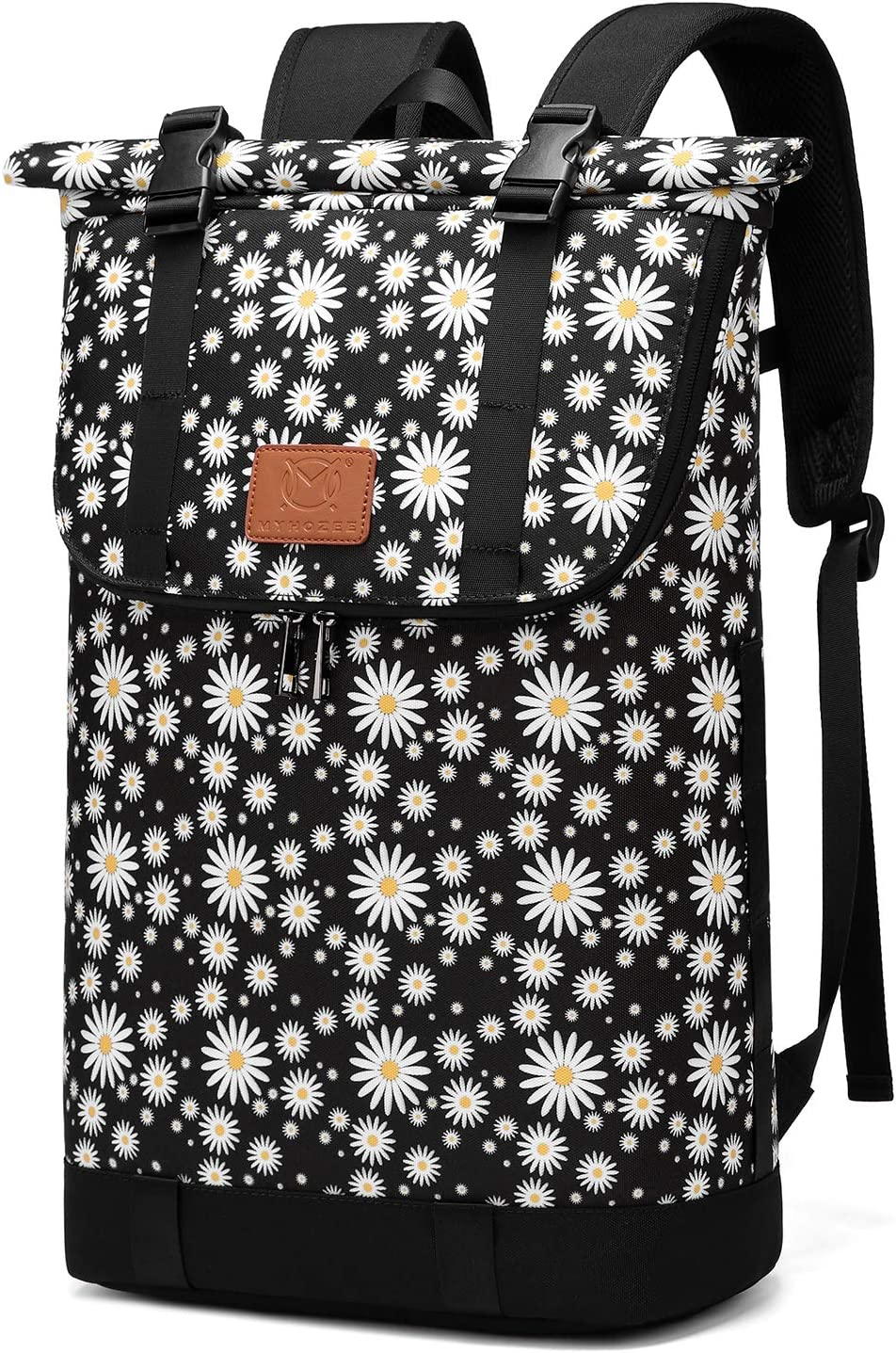 30L Roll-top Hiking Backpack, Travel Packable Laptop Daypack Camera Daypack School Bag for Running, Hiking, Cycling, Camping, Fits 15.6 Inch Notebook (Chrysanthemum)
