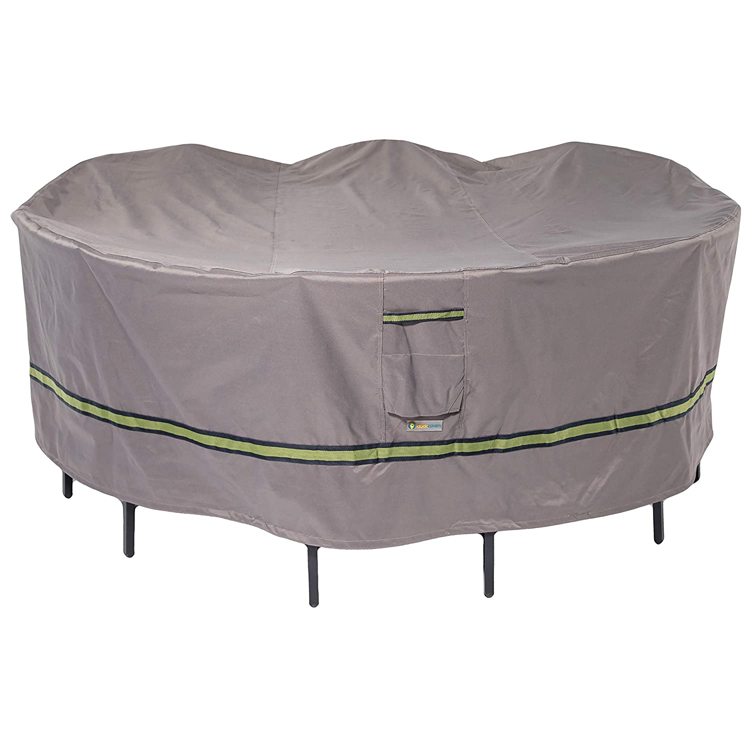 Duck Covers Soteria Rainproof 108 Round Patio Table with Chairs Cover