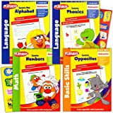 playskool kindergarten workbooks set 4 learning workbooks for kindergarteners and reward stickers reading