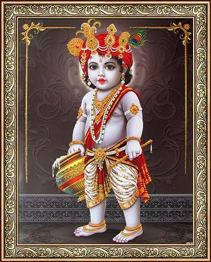 amazon com avercart lord krishna baby krishna poster 8 5x11 inch