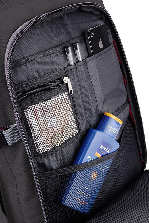 Cabin Max Metz Extra mochila equipaje de mano aprobado para vuelos 55x40x20cm noir//gris