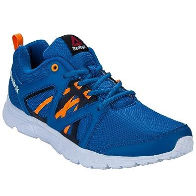 check out 5f150 c05bc Reebok Speedlux, Chaussures de Running Entrainement Homme, Bleu Orange Gris  (Bleu Sport Pêche Électrique Bleu Marine Collégial), 40 1 2 EU  Amazon.fr   ...