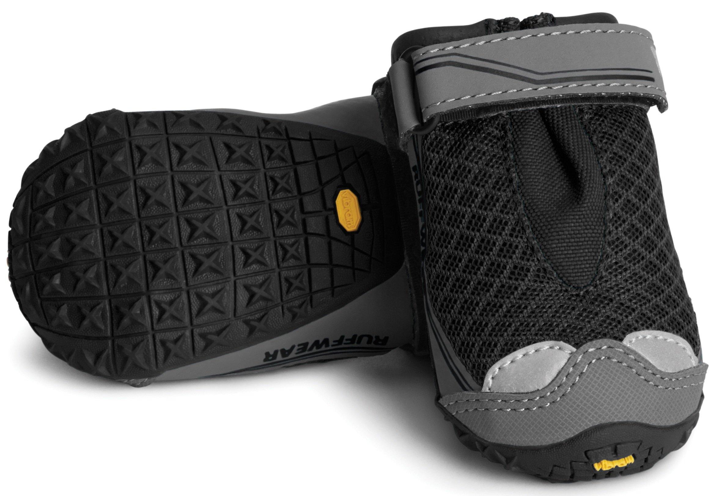 RUFFWEAR ♦ Grip TREX Dog Boots ♦ All Terrain Rugged PAW WEAR Set of Two Colors (2.75 Inch, Obsidian Black) by RUFFWEAR