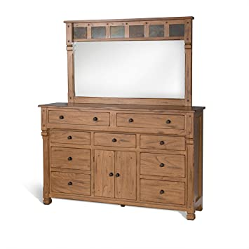 Amazon.com: SUNNY Designs Sedona – 9 cajón Dresser en roble ...