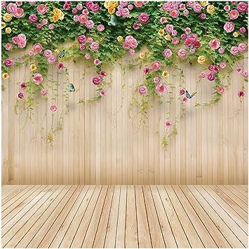 Amazon Com Wolada 8x8ft Spring Flower Backdrop Wood Backdrops For Photography Photographer Photo Video Background Studio Thin Vinyl Props 8909 Camera Photo