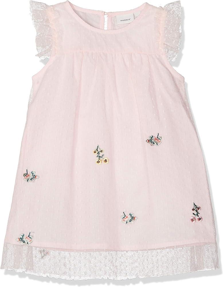 NAME IT Nbfhussa Tulle Capsl Dress Vestido para Beb/és