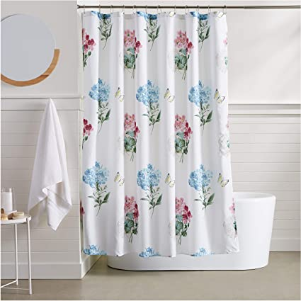 Image Unavailable Not Available For Color AmazonBasics Wildflower Shower Curtain
