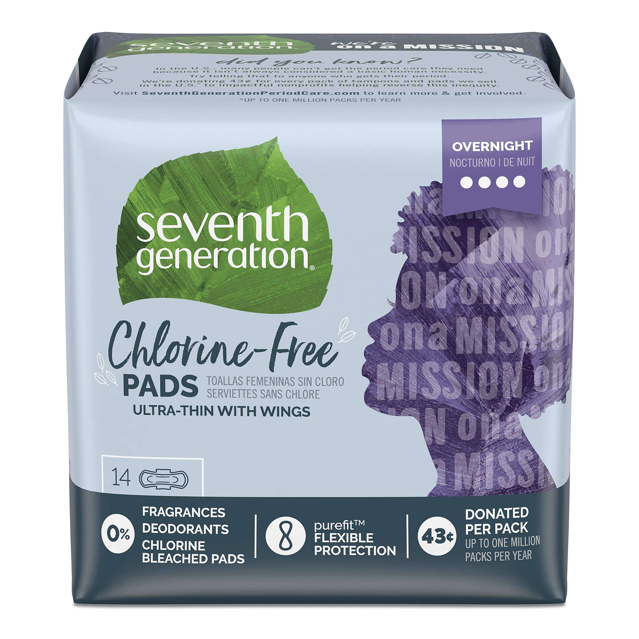 Seventh Generation Tampons with Comfort Applicator, Organic Cotton, Super Absorbency, 18 count, 6 pack (Packaging May Vary)