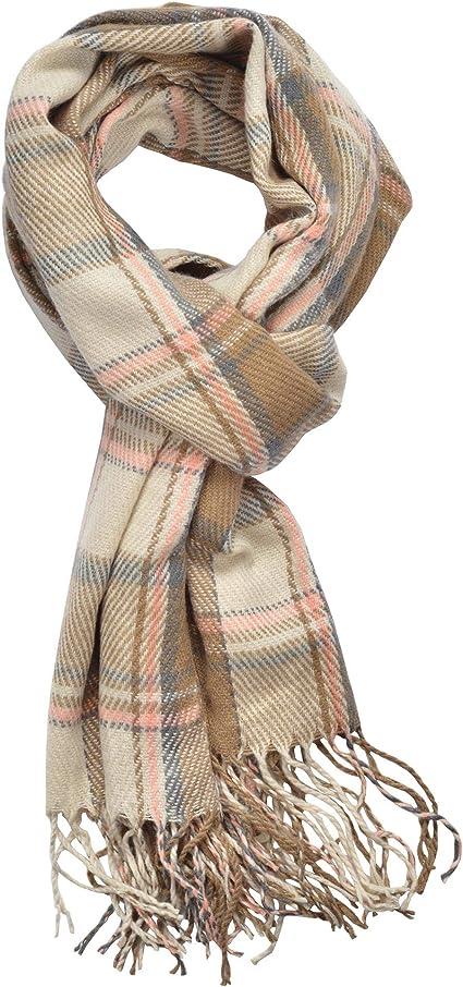 Unisex Winter Everyday Soft English Plaid Check Fringe Scarf Wrap Fall
