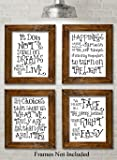 Harry Potter Quotes and Sayings Art Prints - Set of Four Photos (8x10) Unframed - Great Gift for Harry Potter Fans