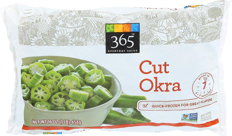 365 Everyday Value, Cut Okra, 16 oz, (Frozen)