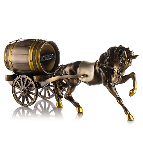 Frisby Decorative Home Decor Sculpture Horse Carriage Statue Rechargeable Speaker w Bluetooth USB miniSD Remote Control