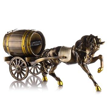 Amazon.com: Decorative Home Decor Sculpture Horse Carriage Statue ...