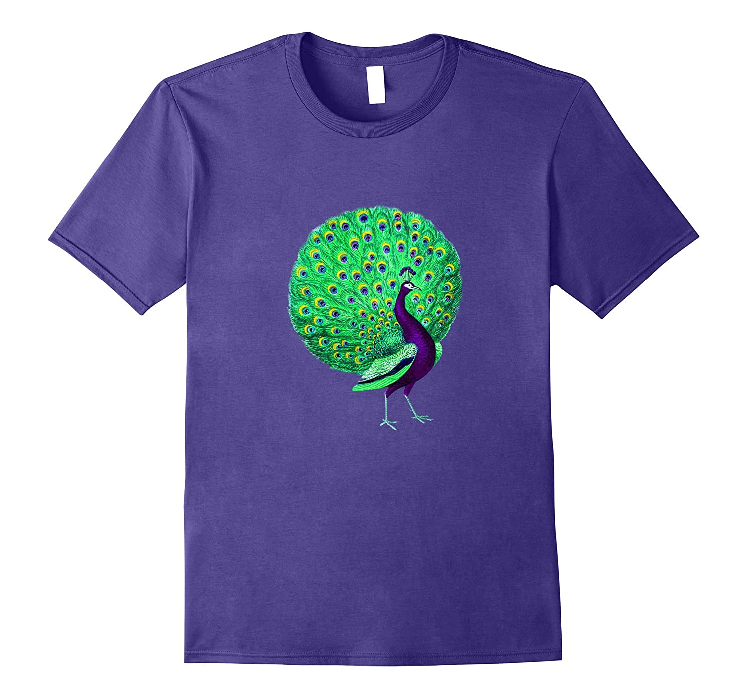 Beautiful Colorful Peacock Painting T shirt Birds Lover Gift-BN