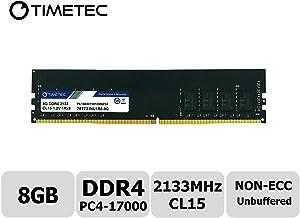Timetec Hynix IC 8GB DDR4 2133MHz PC4-17000 Unbuffered Non-ECC 1.2V CL15 1Rx8 Single Rank 288 Pin UDIMM Desktop Memory RAM Module Upgrade (8GB)