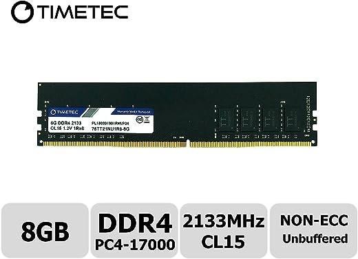Timetec Hynix IC 8GB DDR4 2133MHz PC4-17000 Unbuffered Non-ECC 1.2V CL15 1Rx8 Single Rank 288 Pin UDIMM وحدة ذاكرة الوصول العشوائي (8GB)