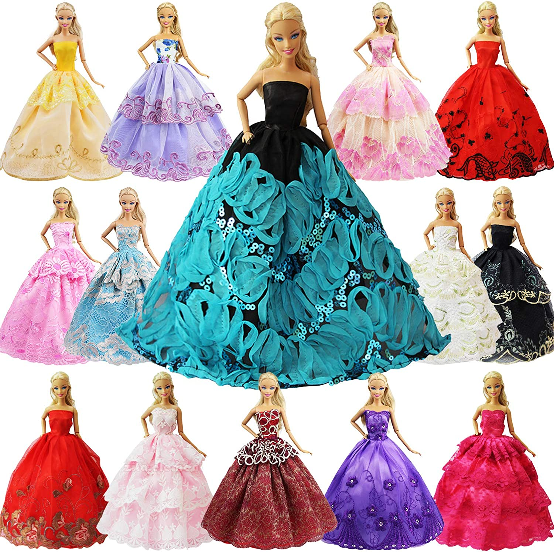 "10Pcs//Lot Fashion Handmade Dresses Clothes Set For 11/"" Doll Style Random Gift"