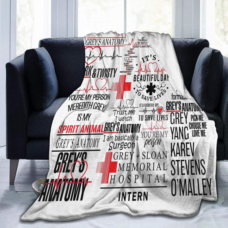 greys anatomy blanket greys anatomy season 17 Soft Micro Fleece Children Blanket Sheet for Crib Adults Kids Bed Bedding Couch Chair Collage Dorm Living Room Home Decor 50
