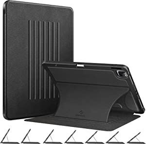 Fintie Magnetic Stand Case for iPad Pro 12.9-inch 5th Generation 2021 - [7 Viewing Angles] Shockproof Rugged Protective Cover w/Pencil Holder, Also Fit iPad Pro 12.9