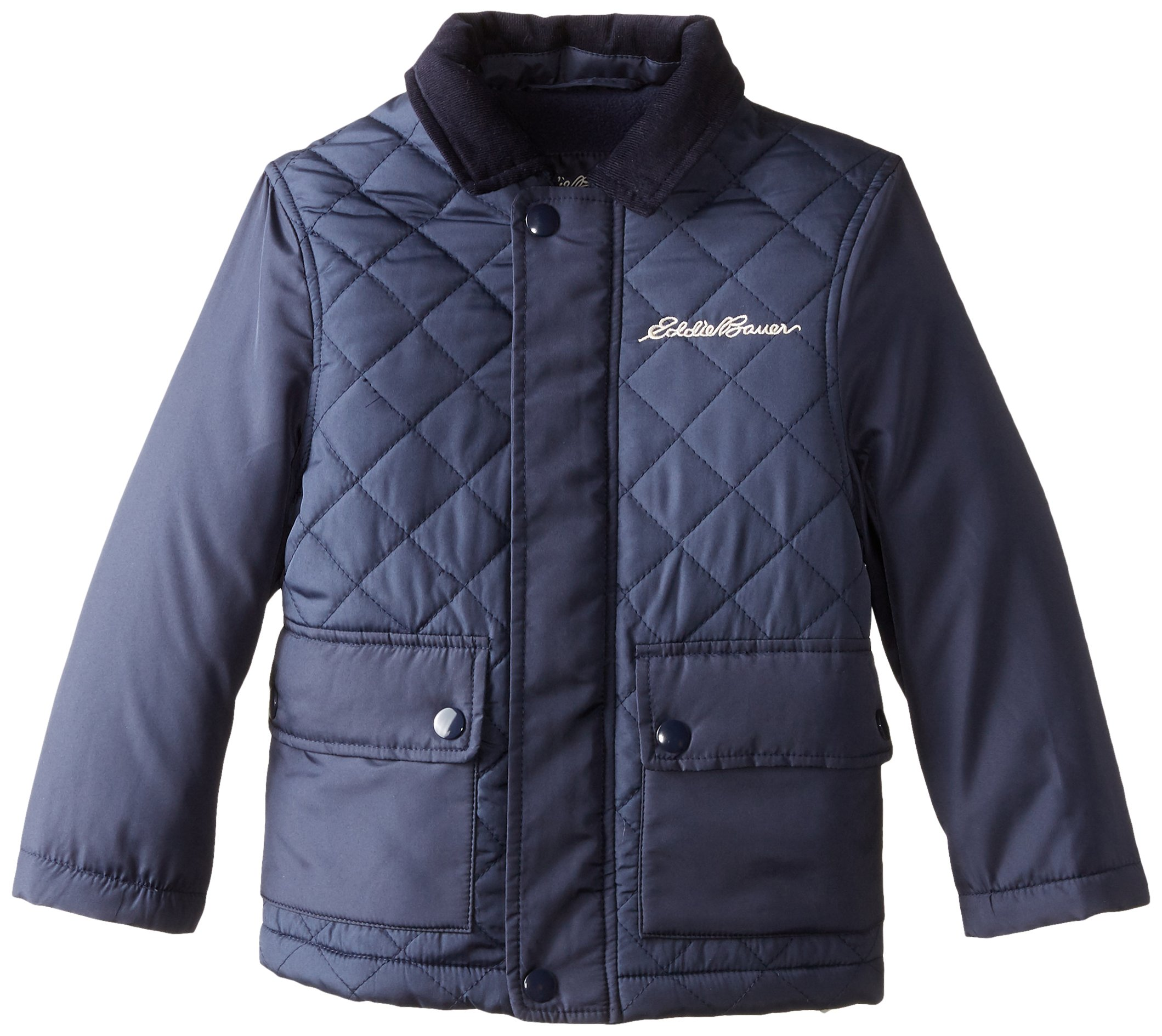 Eddie Bauer Boys' Jacket (More Styles Available), Quilted Navy, 7