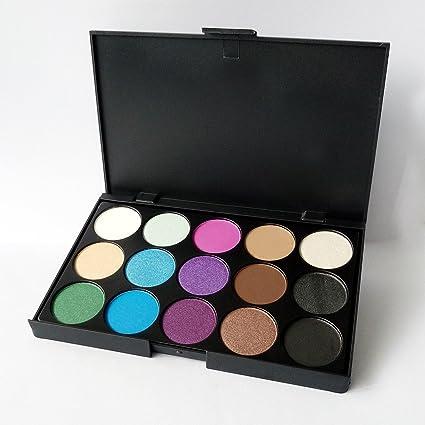 JasCherry Paleta de Sombras de Ojos 15 Colores de Maquillaje Set Kit de alta Calidad Cosmético