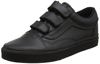Vans Unisex Old Skool V Triple Strap Sneakers Black(Black(Mono Leather))  8.5 UK  Buy Online at Low Prices in India - Amazon.in 40da89bb6