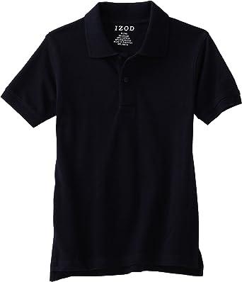 IZOD Boys Toddler School Uniform Short Sleeve Pique Polo