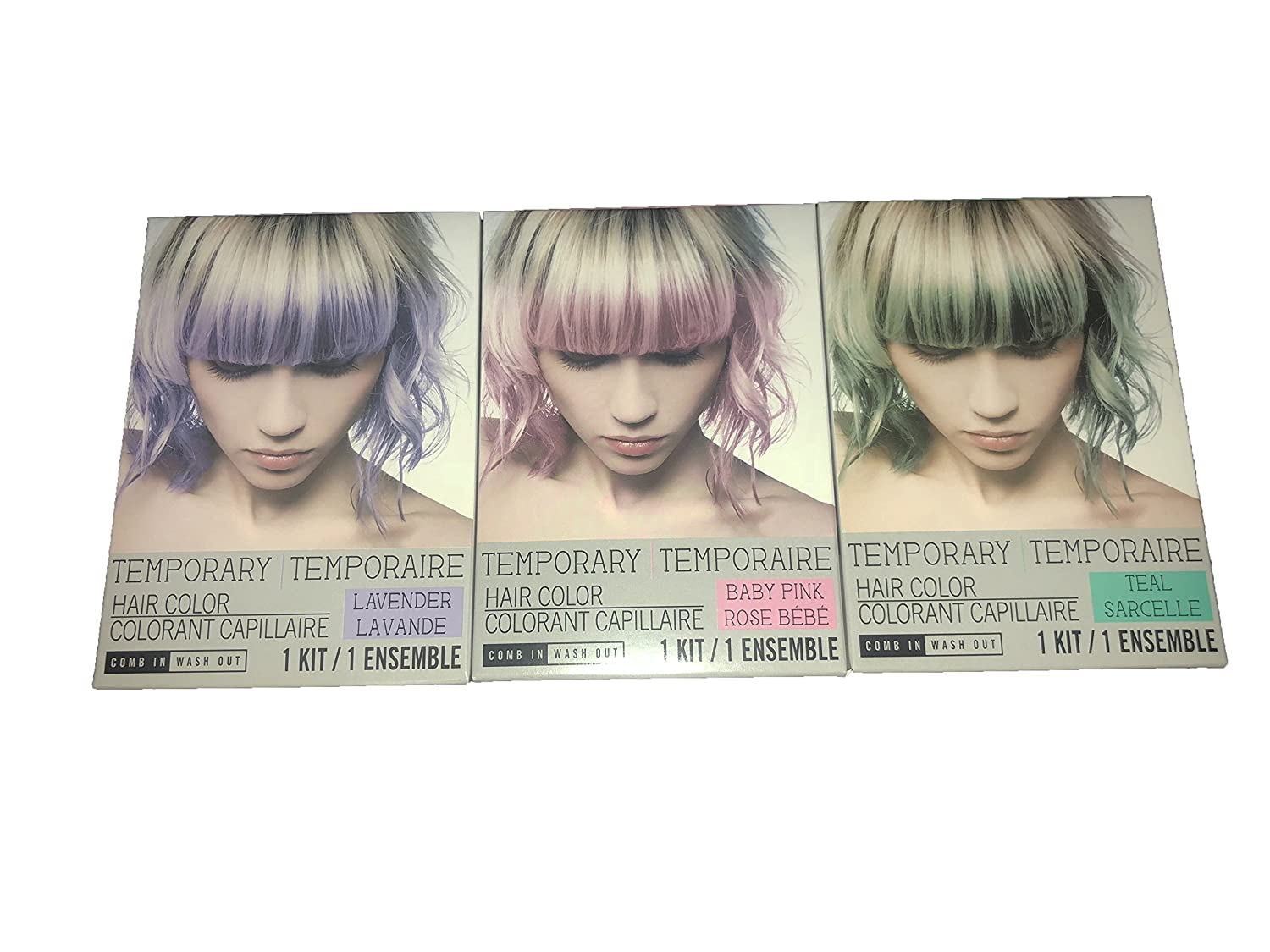 Amazon Three Pack Of Comb In Temporary Hair Color Kit Includes
