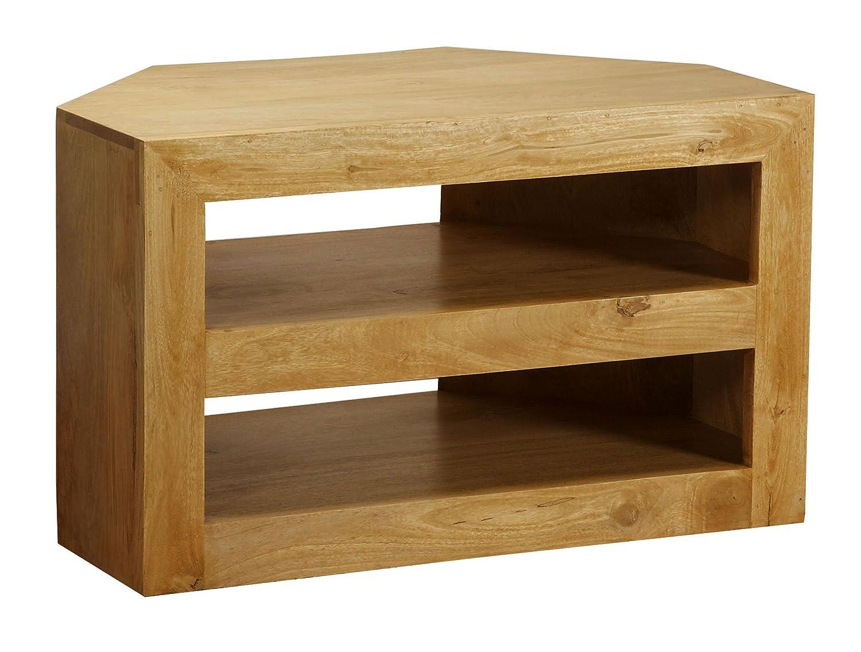 living room furniture tv corner. homescapes dakota oak finish tv dvd corner unit for living room solid mango wood furniture no veneer amazoncouk kitchen u0026 home tv