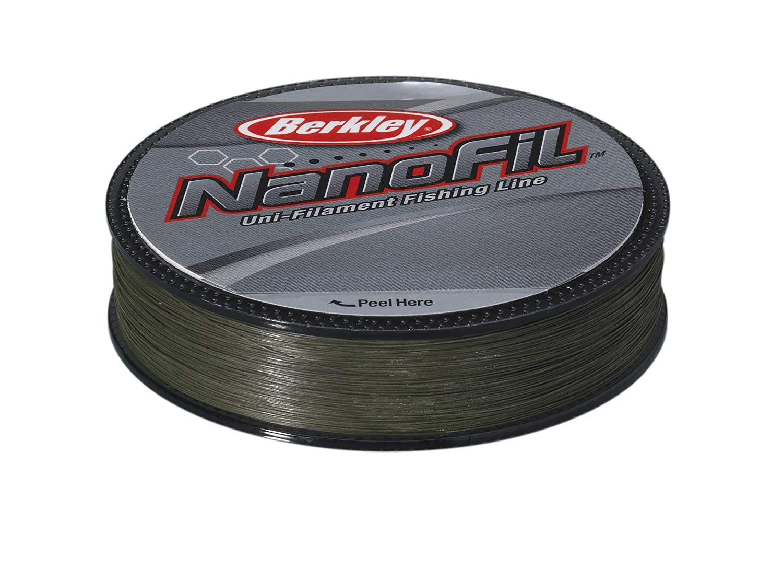 Berkley Nanofil - Hilo de pesca (longitud: 270 m, diámetro: 0,15 mm, resistencia: 7,659 kg), color verde 1278193