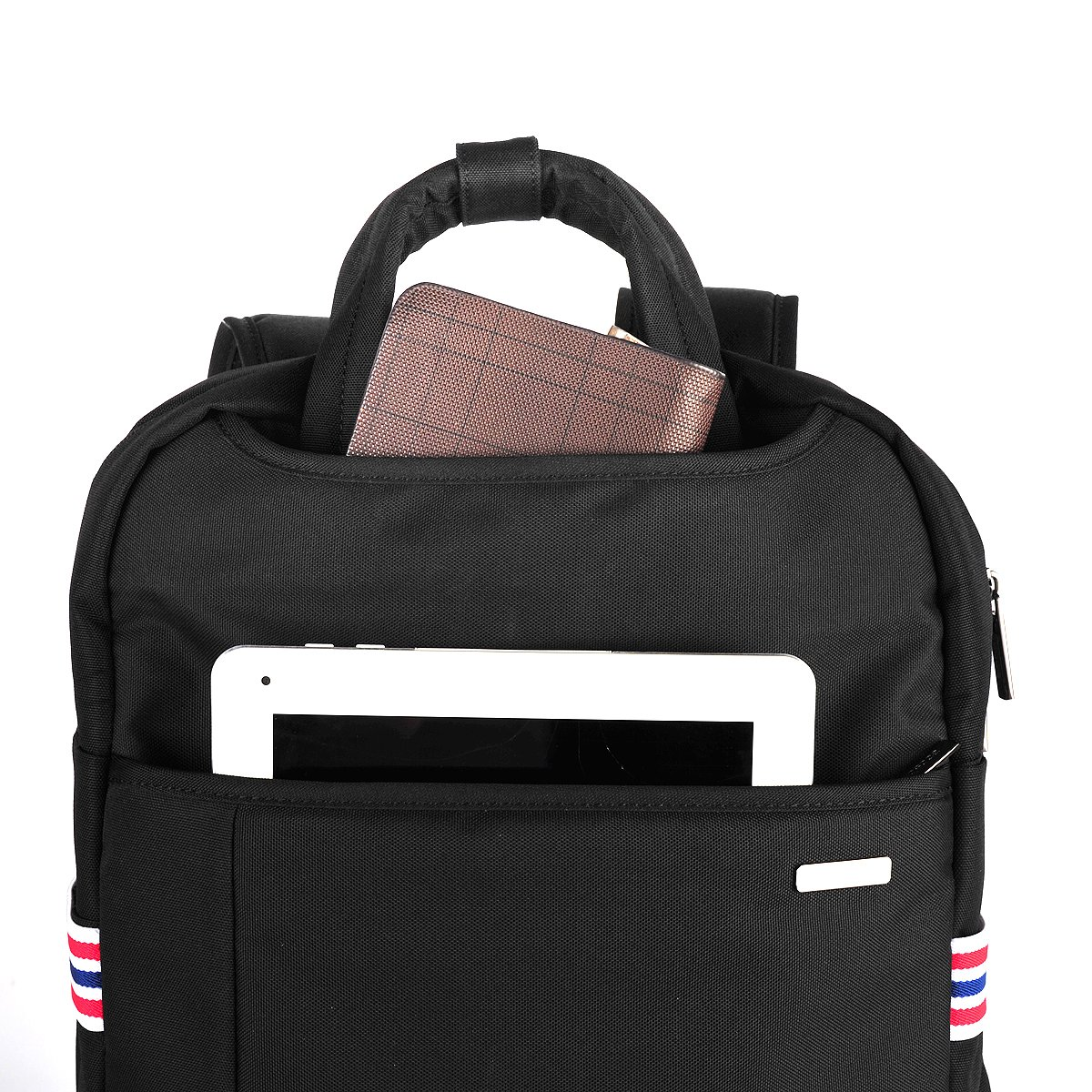 Laptop Backpack,Nylon Computer Bag,Travel Shoulder Bag,Carry Bag,Fits Under 15.6-Inch Laptop Notebook(Grey)