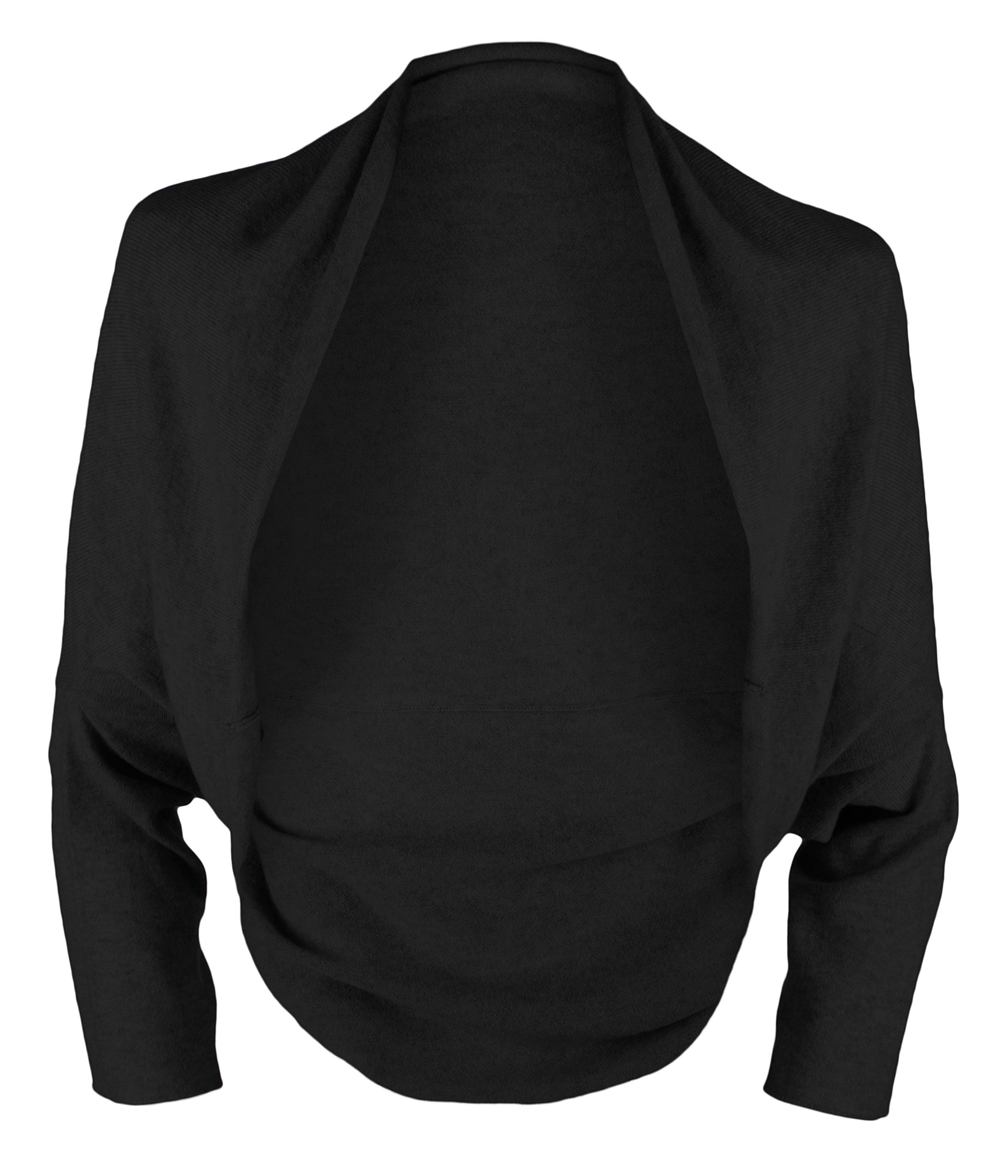 Ladies 100% Cashmere Wrap Sweater - Black - handmade in Scotland by Love Cashmere - RRP $430