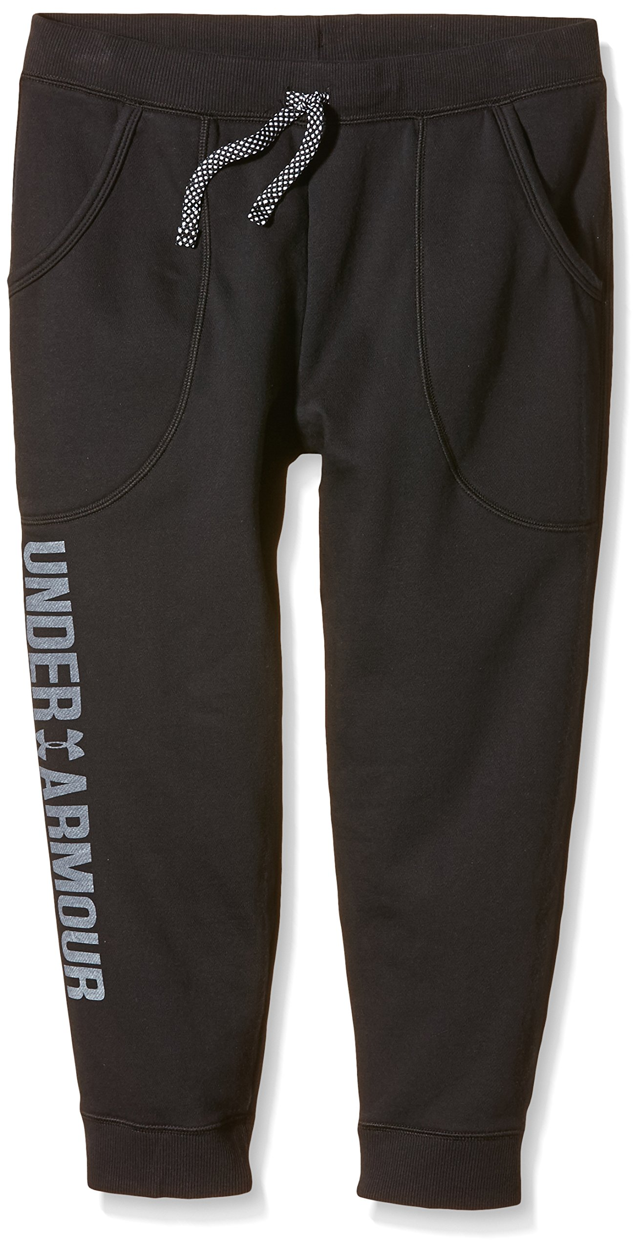 Under Armour Kids Girls' Favorite Fleece Capris (Big Kids), Black, SM (8 X One Size by Under Armour