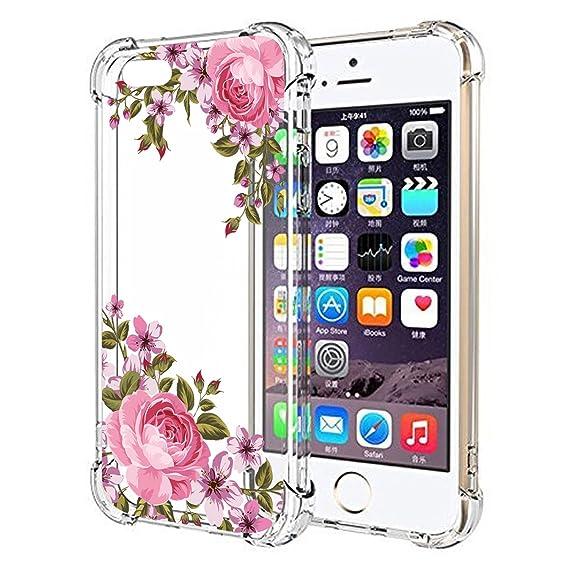 3fddda34a68 Amazon.com: iPhone 5 5S Case, JAHOLAN Amusing Whimsical Design Clear ...