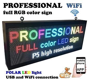 Amazon.com: Cartel profesional para exteriores WiFi P5 de ...