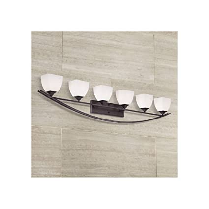 Terrific Jenisen Arch 62 3 4 Wide Bronze Bathroom Light Vanity Download Free Architecture Designs Aeocymadebymaigaardcom