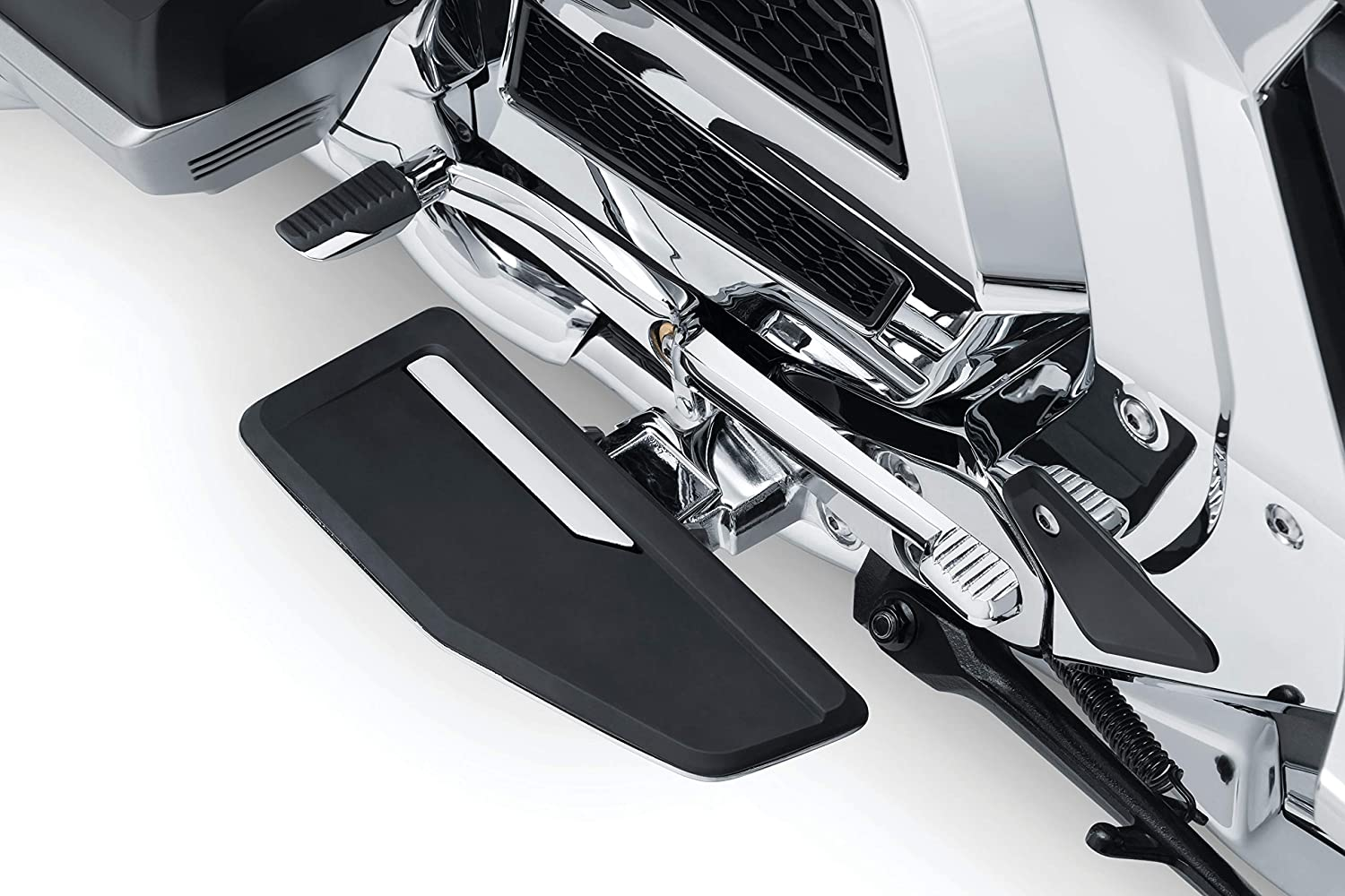 Omni Driver Floorboard Kit for 2018-20 Honda Gold Wing Motorcycles with Dual Clutch Transmission Kuryakyn 3283 Motorcycle Foot Control Component Satin Black 1 Pair