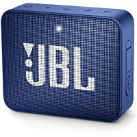 JBL GO2BLU Go 2 Portable Bluetooth Waterproof Speaker (Deep Sea Blue), 4.3 x 4.5 x 1.5